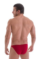 Stuffit Pouch Bikini Swimsuit in ThinSKINZ Lipstick Red 3
