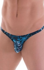 Stuffit Pouch Bikini Swimsuit in Super ThinSKINZ Currents 4