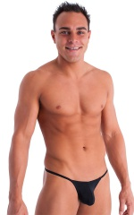 Stuffit Pouch G String Swimsuit in Semi Sheer ThinSKINZ Black 1