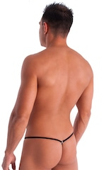 Stuffit Pouch G String Swimsuit in Semi Sheer ThinSKINZ Black 3