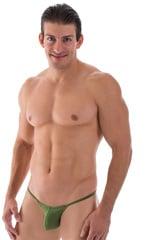 Micro Pouch - Puckered Back - Rio Bikini in Semi Sheer Sage 1