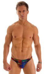 Bikini Brief Swimsuit in Tan Through Wavelength  1