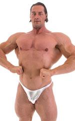 Bodybuilder Posing Suit - Narrow Back in Liquid Silver 5
