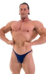 Bodybuilder Posing Suit - Narrow Back in Wet Look Navy 1