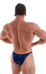 Bodybuilder Posing Suit - Narrow Back in Wet Look Navy 3