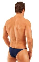 Super Low Brazilian Bikini in Semi Sheer ThinSKINZ Navy Blue 3