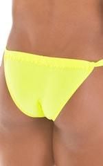 4-Way Adjustable Bikini-Tanga-Micro in Semi Sheer ThinSKINZ  Chartreuse 4