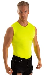 Sleeveless Lycra Muscle Tee in Chartreuse 1