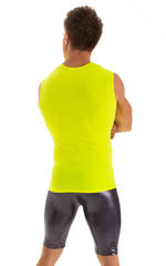 Sleeveless Lycra Muscle Tee in Chartreuse 6