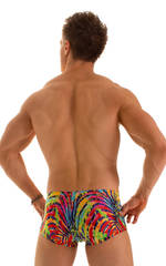 Extreme Low Square Cut Swim Trunks in Super ThinSKINZ Festival 2