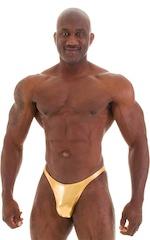 Posing Suit - Competition Bikini Cut in Liquid Gold 5
