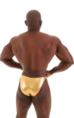 Posing Suit - Competition Bikini Cut in Liquid Gold 6