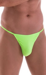 Smooth Pouch Skinny Sides Swim Thong in ThinSKINZ Neon Lime 4
