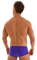 Pouch Enhanced Micro Square Cut Swim Trunks in Indaco 2