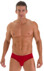Pouch Brief Swimsuit in ThinSKINZ Lipstick Red 1