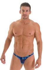 Stuffit Pouch Bikini Swimsuit in Digital Rush Blue 1