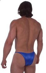 Skinny Side Half Back Swim Suit in Wet Look Royal Blue 5