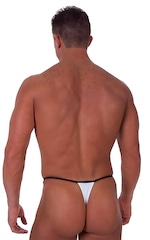 Banded Thong Bathing Suit in Optic White 3