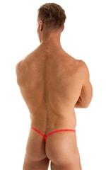 Roman G String Swim Thong in Semi Sheer ThinSKINZ Neon Coral 2