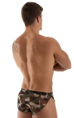 Swimsuit Cover Up Split Running Shorts in Mesh Camouflage 3