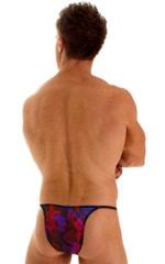 Sunseeker2 Tanning Swimsuit in Semi Sheer Life on Mars print on mesh 2