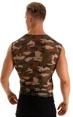Sleeveless Lycra Muscle Tee in Vixen Stretch Mesh 2