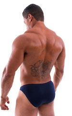 Bikini-Brief Swimsuit in Semi Sheer ThinSKINZ Navy Blue 5