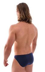 Bikini-Brief Swimsuit in Semi Sheer ThinSKINZ Navy Blue 3