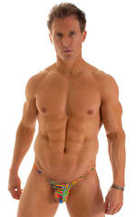 Micro Pouch - Puckered Back - Rio Bikini in ThinSkinz Neon Dali 1