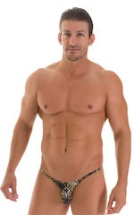 Stuffit Pouch Half Back Tanning Swimsuit in Super ThinSKINZ Coiled Python 1