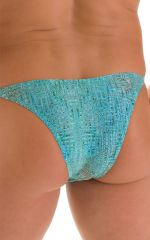 Super Low Brazilian Bikini in Super ThinSKINZ Seafoam Circuits 6