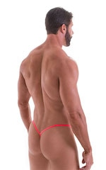 Y Back G String in ThinSKINZ Neon Coral 3