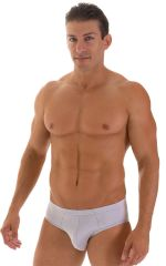 Pouch Brief Swimsuit in Platinum 1