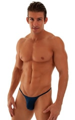 Smooth Pouch Skinny Sides Swim Thong in ThinSkinz Navy Blue 1