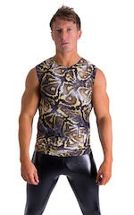 Sleeveless Lycra Muscle Tee in Super ThinSKINZ Giant Python 1