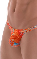 Stuffit Pouch Thong in Vapor Wave Orange 4