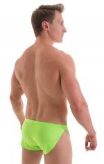 Swimsuit Cover Up Split Running Shorts in ThinSKINZ Lime 3