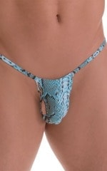 Roman G String Swim Thong in ThinSKINZ Aqua Python 5