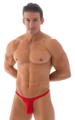T Back Thong Swimsuit - Bravura Pouch in ThinSKINZ Lipstick Red 1
