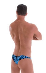 Tanga Cheekini Bikini in Laser Blue Lightning 3
