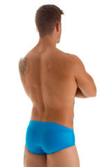 Pouch Brief Swimsuit in Wet Look Turquoise 5