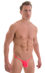 Micro Pouch - Puckered RIO Back in ThinSKINZ Neon Coral 1