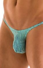Sunseeker Micro Pouch Half Back Bikini in Super ThinSKINZ Seafoam Circuits 3