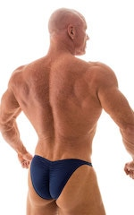 Fitted Pouch - Puckered Back - Posing Suit in Navy Dark Blue 3