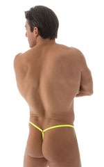 Crixus G String Swim Suit in ThinSKINZ Chartreuse 3