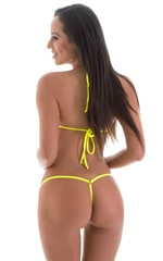 Mini Micro G String Bikini in Chartreuse 3