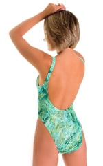 Baywatch One Piece Swimsuit in Jade Marble 2