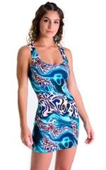 Mini Dress in Swimming Leopard 1