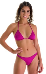 Classic Triangle Swimsuit Top in Magenta 1