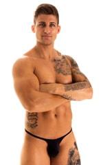 Sunseeker Micro Pouch Half Back Bikini in Black 1